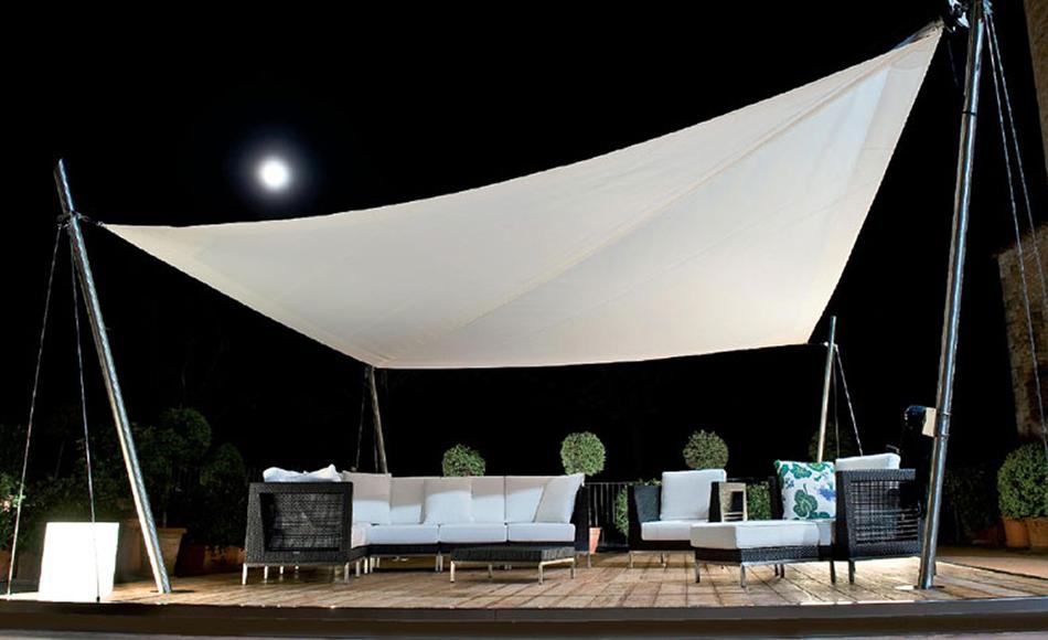 tenda a vela rettangolare decorare la tua casa